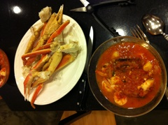Cioppino and Crab Legs